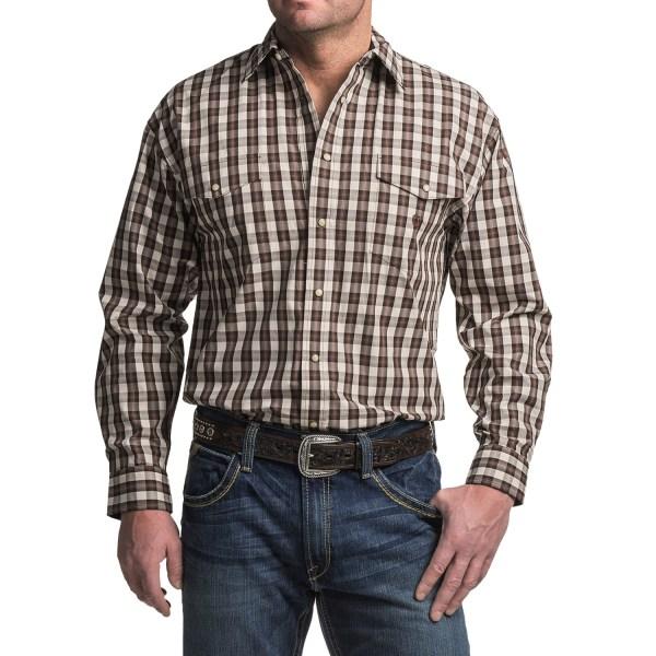 Panhandle Slim Peach Poplin Shirt Men - Save 60