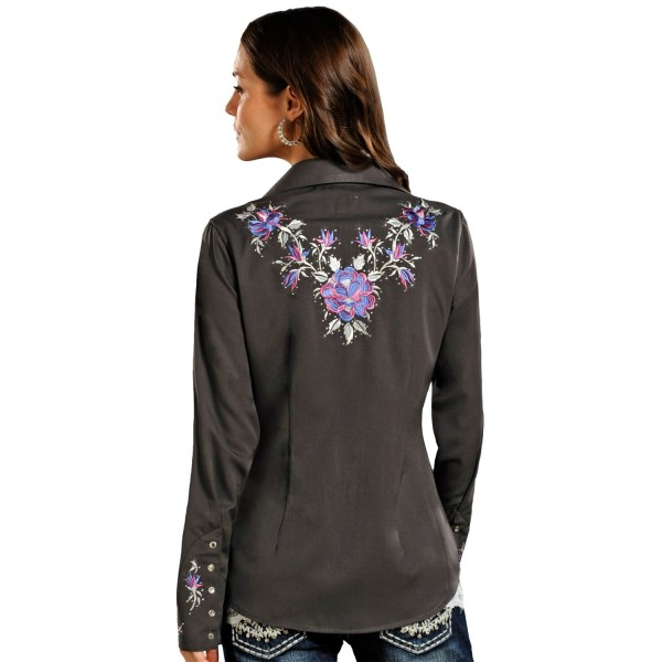 Panhandle Slim Rhinestone Snap Western Shirt Women