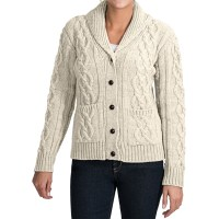 Peregrine Aran Shawl Collar Cardigan Sweater (For Women ...