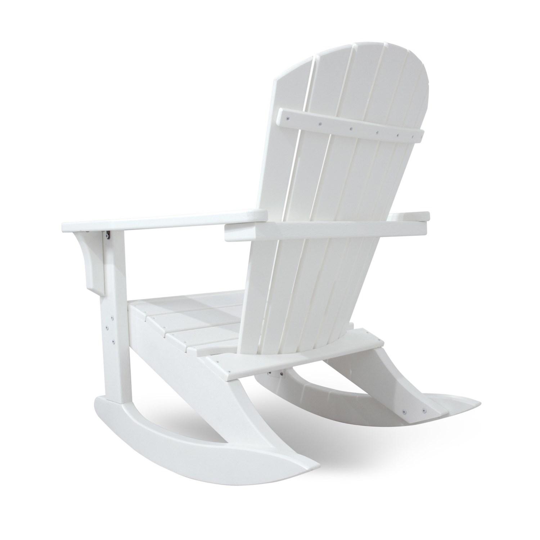 Polywood Seashell Adirondack Rocking Chair 6760F