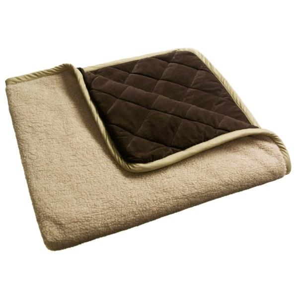"Orvis Microfiber Throw Blanket - 48x56"" Reversible 1070d"
