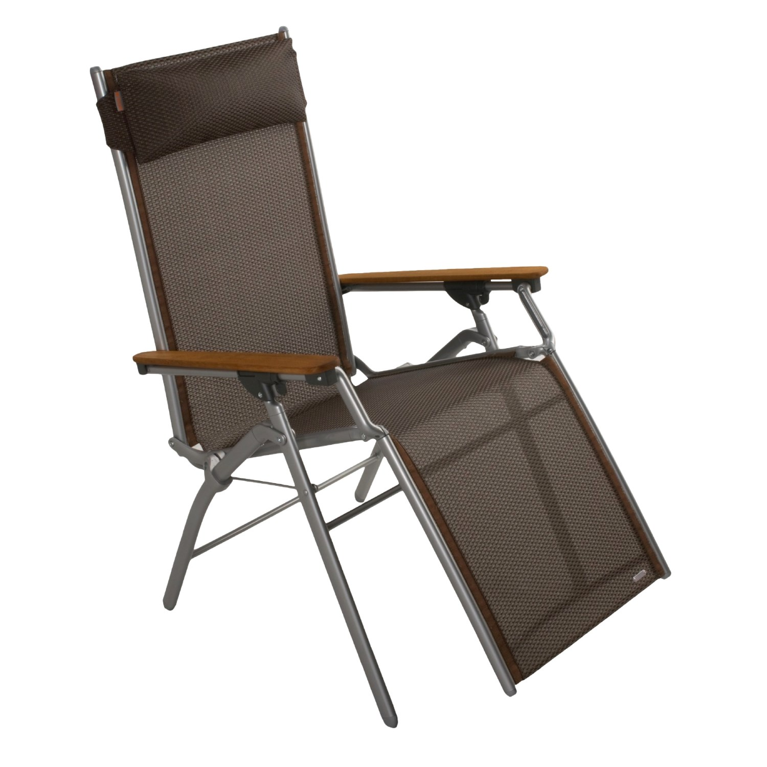 Folding Chair With Arms Lafuma R 39light Folding Recliner Chair With Wood Arm Rests