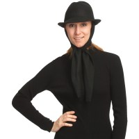 Asian Eye Harlow Classic Fedora Hat with Attached Scarf