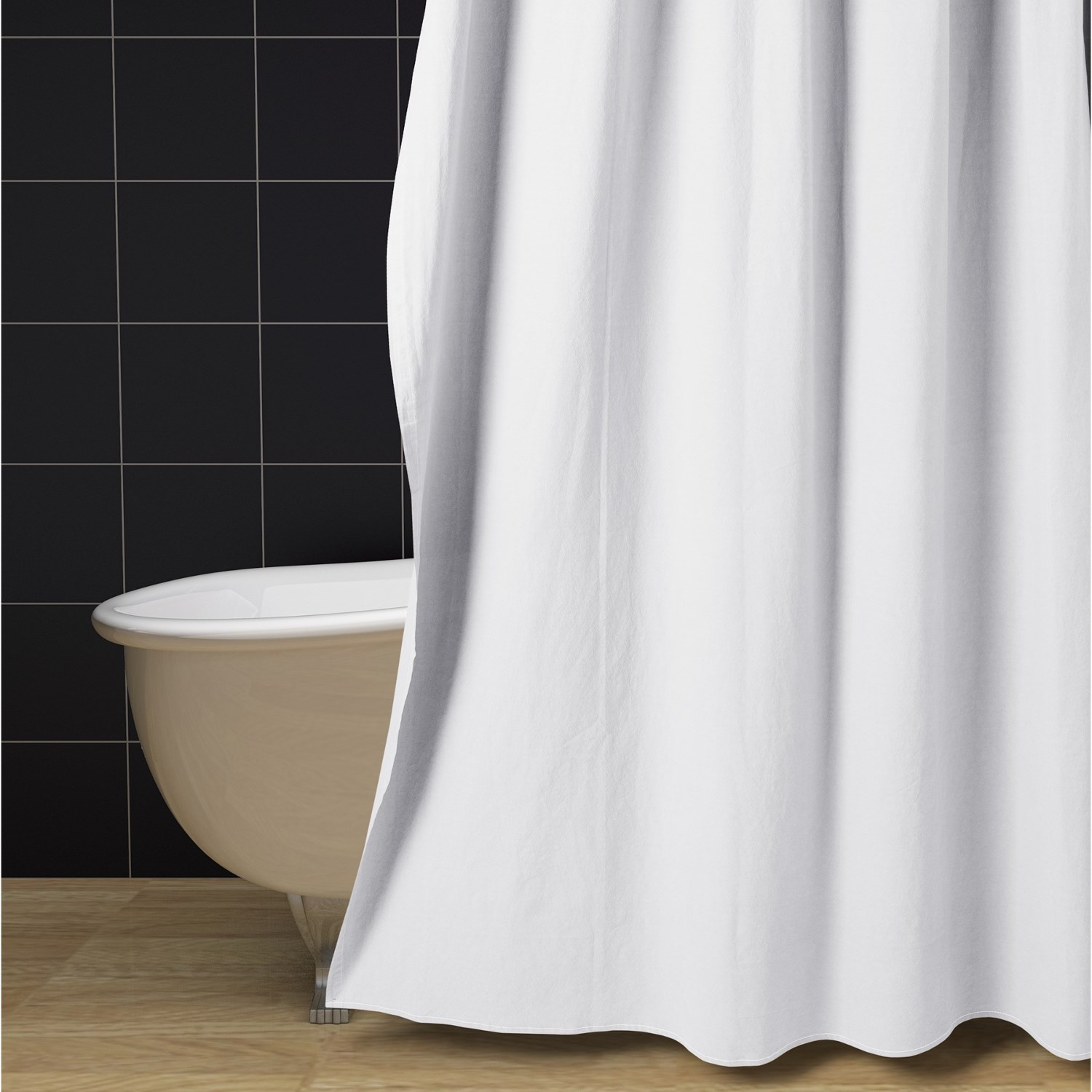 Pure Canvas Shower Curtain and Liner Set  Extra Long 2