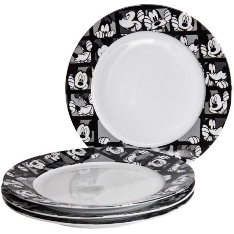 Disney Mickey Grid Porcelain Dinner Plates