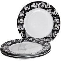 Disney Mickey Grid Porcelain Dinner Plates