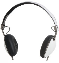 skullcandy navigator wired headphones with mic in white black click to expand [ 1500 x 1500 Pixel ]