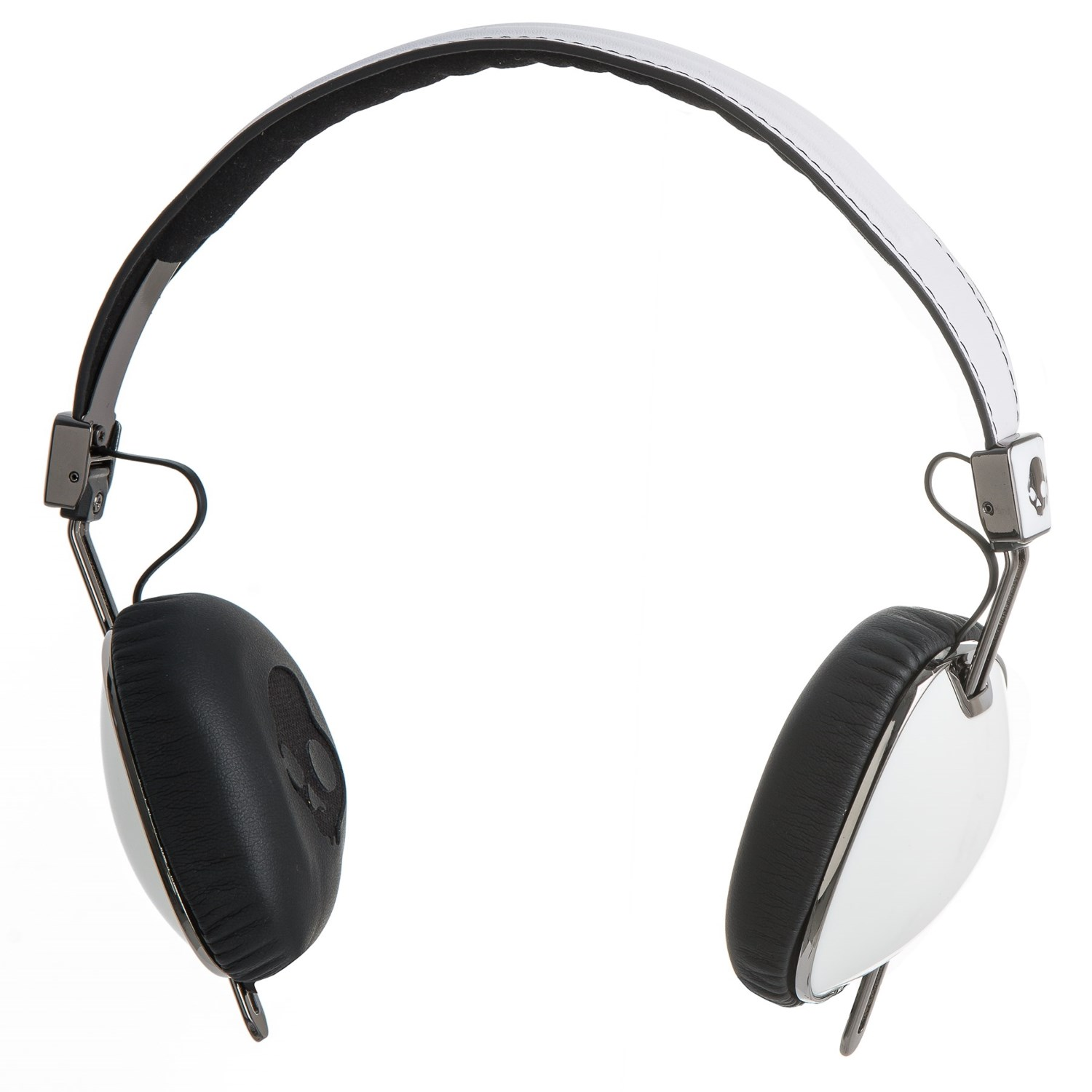 hight resolution of skullcandy navigator wired headphones with mic in white black click to expand