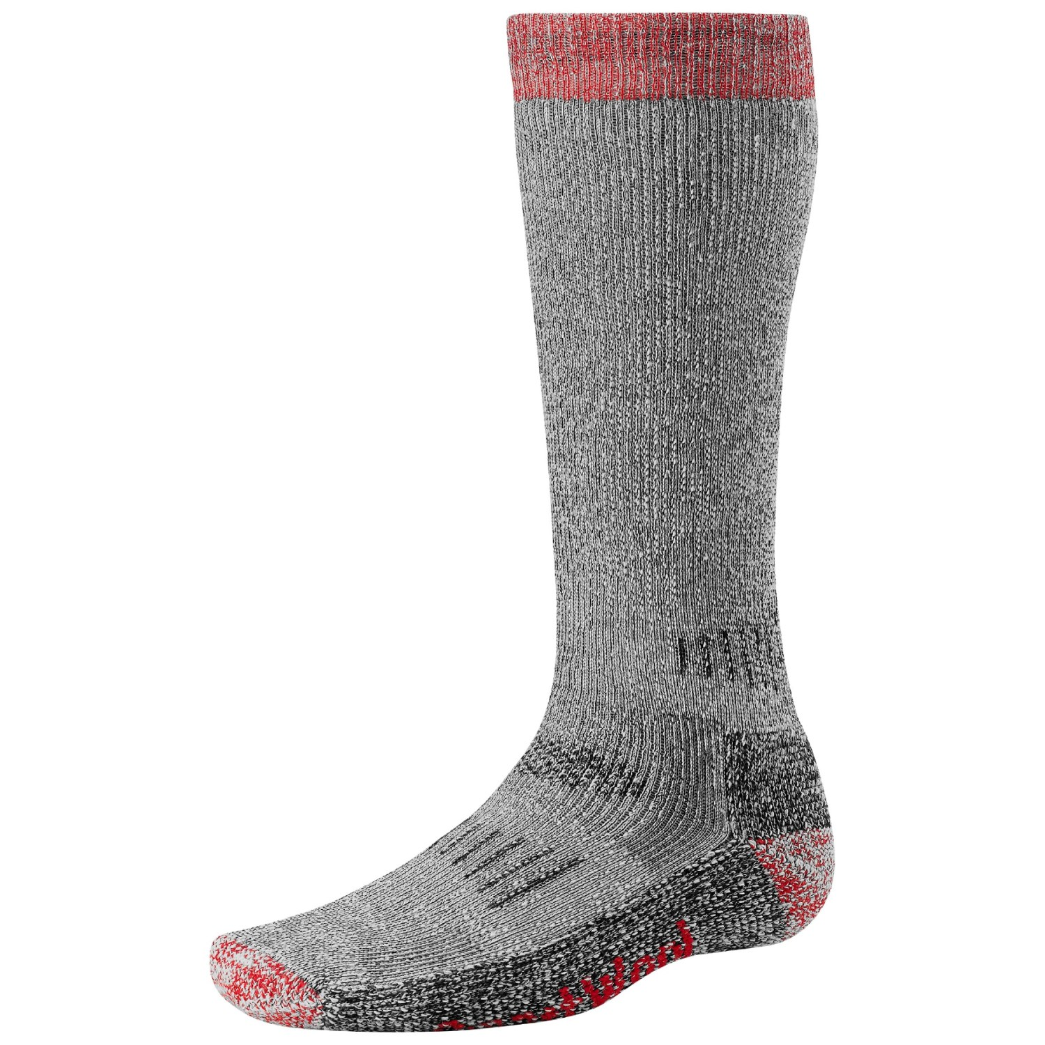 smartwool merino wool extra heavyweight hunting socks for men and women in grey red p 14175 02 1500 3