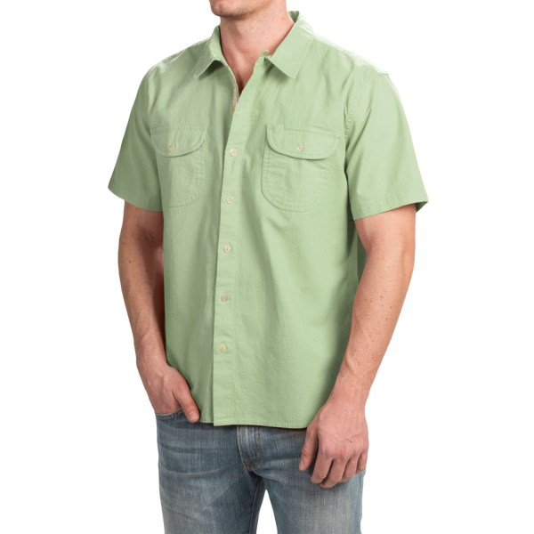 True Grit Brushed Cotton Solid Shirt Men - Save 77