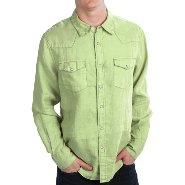 True Grit Lux Linen Western Shirt - Long Sleeve Men