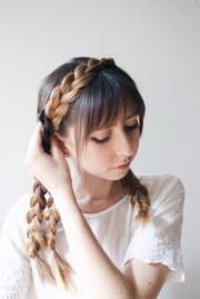 cute diy milkmaid braids thick