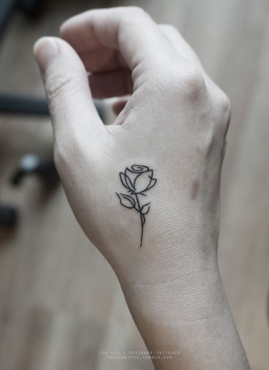 Cute Rose Tattoos For Girls