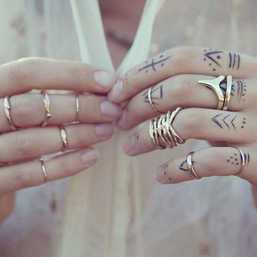 Simple Hand Tattoos Designs