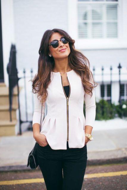 22 Feminine Peplum Jacket Outfits For This Fall Styleoholic
