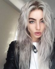 trendy grey hair color ideas