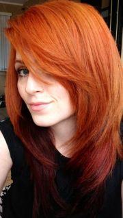 fiery copper hair