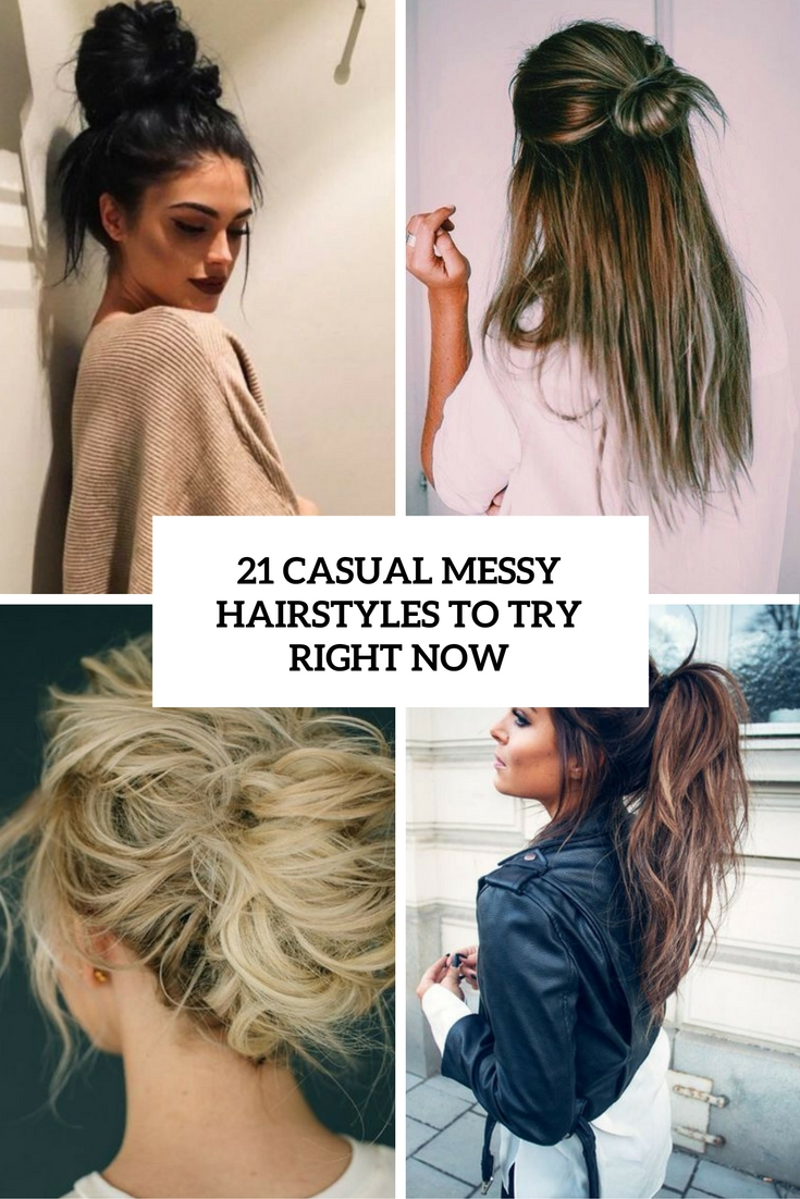21 Casual Messy Hairstyles To Try Right Now  Styleoholic