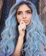 trendy soft pastel hair color