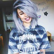 trendy soft pastel hair color