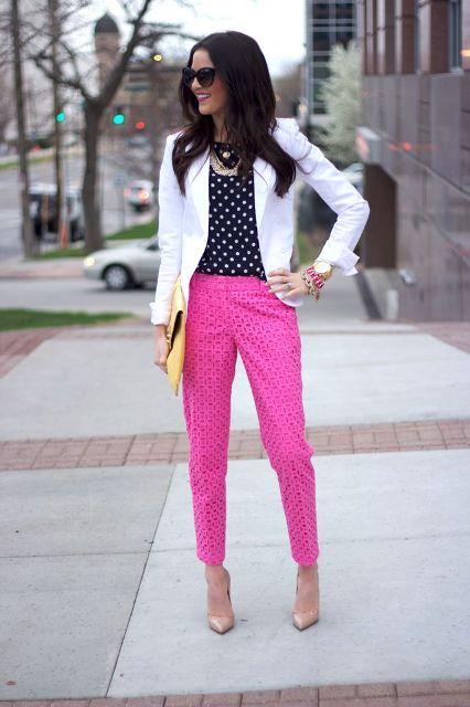 22 Fuchsia Pants Outfits For Stylish Ladies  Styleoholic