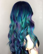 balayage and ombre mermaid hair