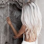 beautiful and trendy icy blonde