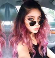 bold and trendy geode hair color