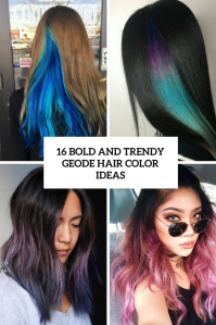 16 Bold And Trendy Geode Hair Color Ideas - Styleoholic