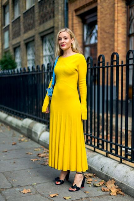 22 yellow dress outfits