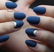chic and trendy moon nail