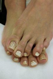 shining toe nail art ideas
