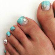 aqua colored nails