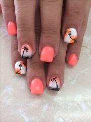 awesome bold beach manicure
