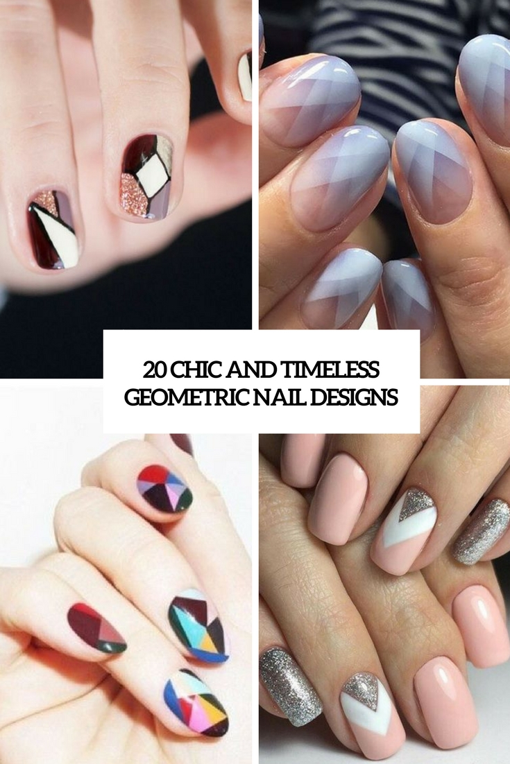 20 Chic And Timeless Geometric Nail Designs