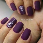 bold purple nails design