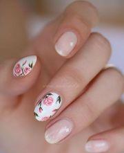 blush nails and pink