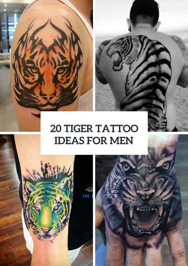 Picture Of Excellent Tiger Tattoo Ideas For Men