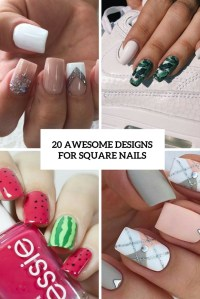 20 Awesome Design Ideas For Square Nails - Styleoholic
