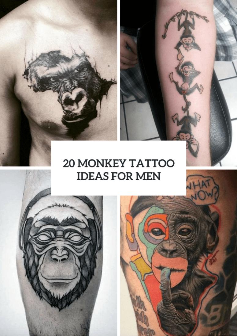 Crazy Monkeys Tattoos : crazy, monkeys, tattoos, Monkey, Tattoo, Design, Ideas, Styleoholic