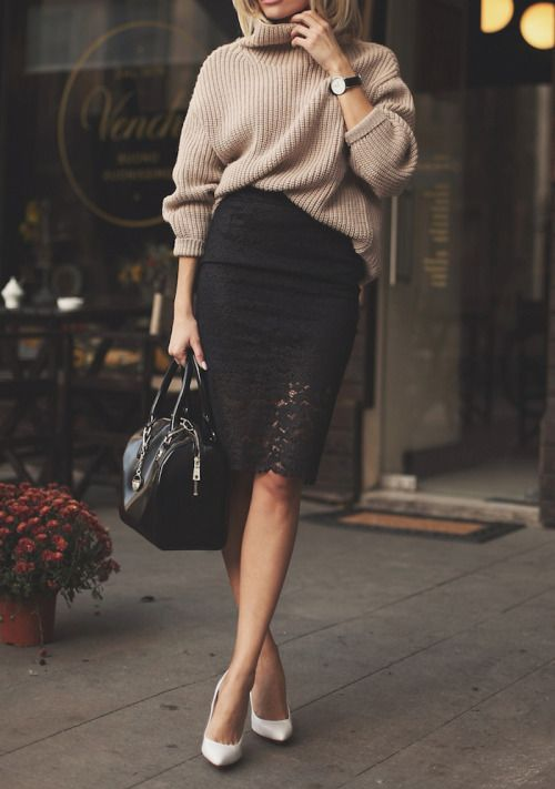 Sweater Dark Turtleneck Brown