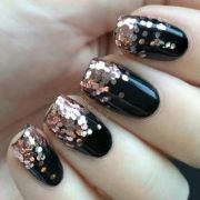black nails with large