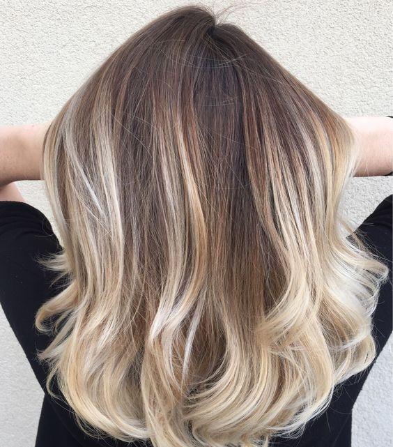 30 Baylage Brown Medium Length Hairstyles Hairstyles Ideas Walk