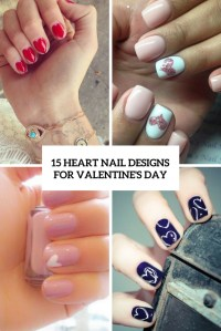 15 Heart Nail Designs For Valentines Day - Styleoholic