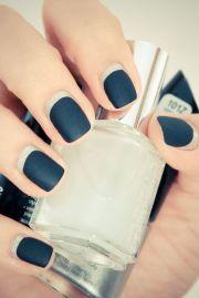 dark teal matte nails