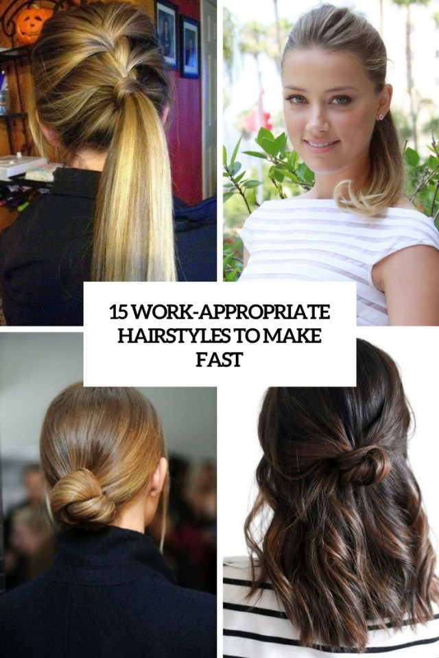 15 work-appropriate hairstyles to make fast - styleoholic