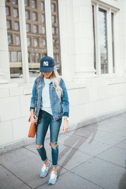 20 Spring Outfits With Denim Baseball Caps - Styleoholic