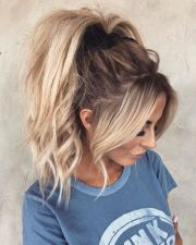 messy and wavy