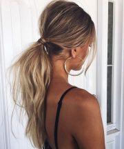 effortless messy ponytails