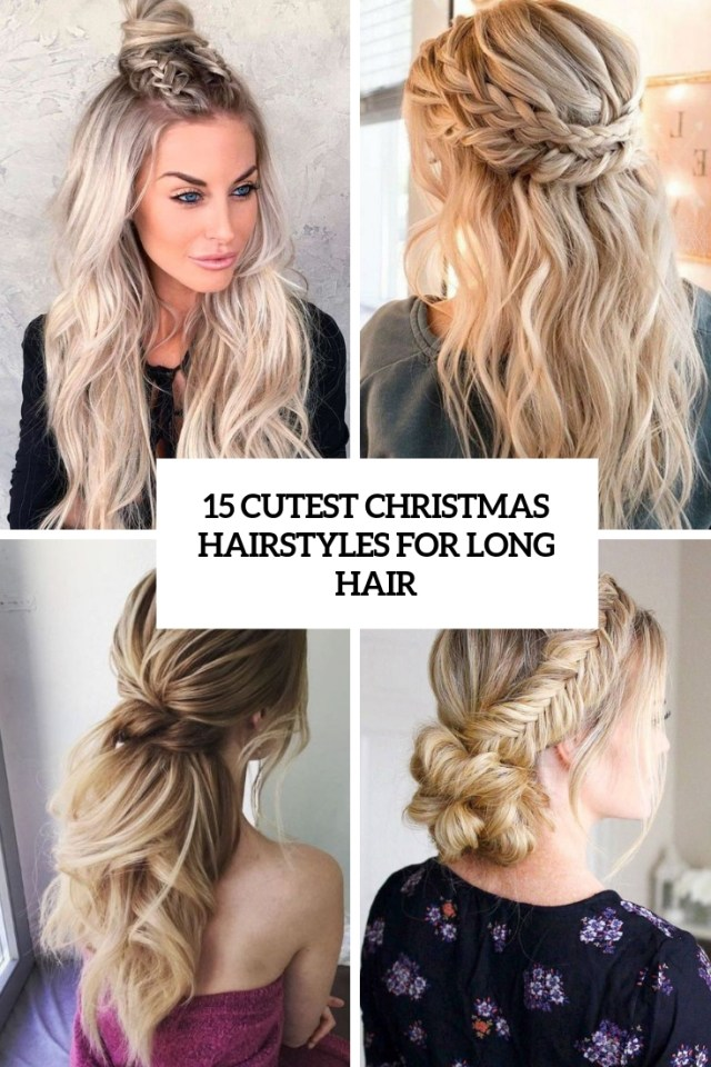 15 cutest christmas hairstyles for long hair - styleoholic